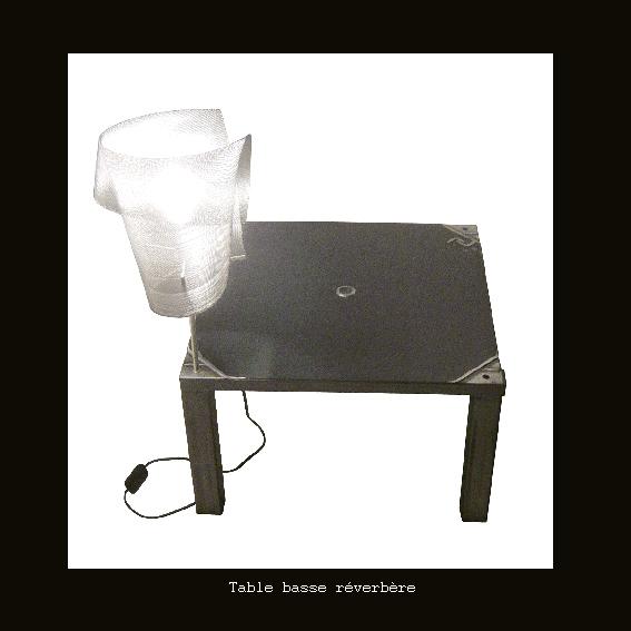 Table basse réverbère